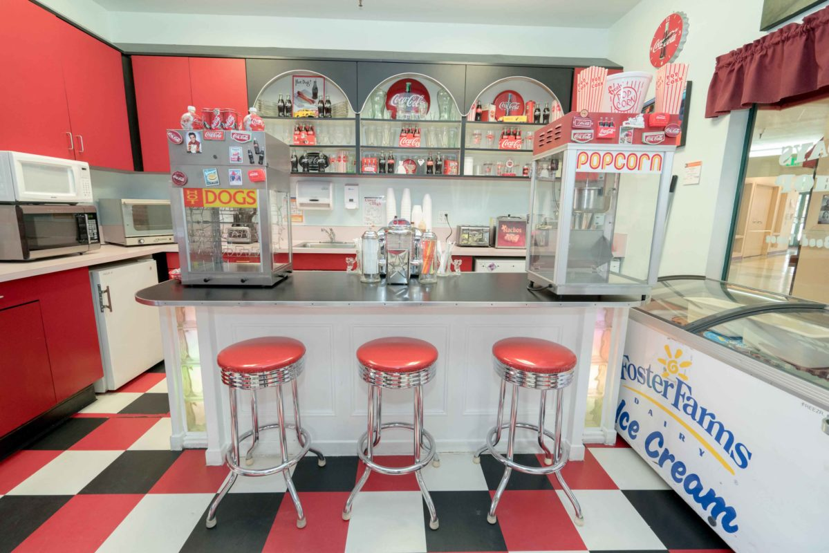 Happy days soda shop at Eden Valley Care Center
